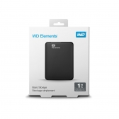 Hd Externo 1Tb Western Digital Elements Preto Usb 3.0 Wdbuzg0010Bbk-Wesn