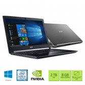 Notebook Acer A515-51G-50W8 Intel Core I5 7200U 8Gb 2Tb 15,6 Geforce Mx130 2Gb Windows 10 Home Preto